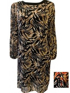 robe col rond imprimé animal - CpourL Pajama Pants, Pajamas, Fashion, Animal Print Style, Trendy Outfits, Round Collar, Gowns, Pjs, Moda