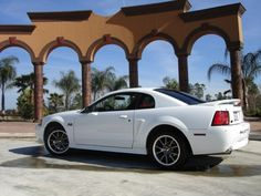 White New Edge mustang. I'd love another one of these!! RAF