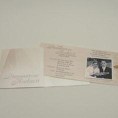 Einladung Zur Diamantenen Hochzeit Mit Einschieber. #shoodesign  #zitronengelb #einladung #invitation #