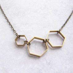 Hexagon Link Necklace, $29, now featured on Fab.