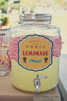 Super cute drink drink dispensers for any outdoor summer party - love the styling! #chillingrillin