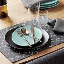 12-piece shiny copper flatware set