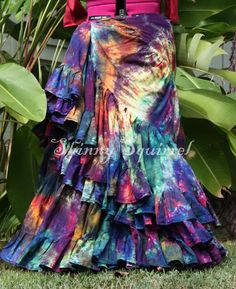 Cant decide what color skirt to get? How about this one? The way you wrap it or drape it determines the color feel. Want it to look more purple?