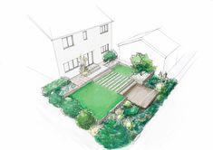 Landscape Design, Garden Design, Garden Works, Garden On A Hill, Landscaping Work, Garden Maintenance, Layout, Urban Setting, Garden Spaces