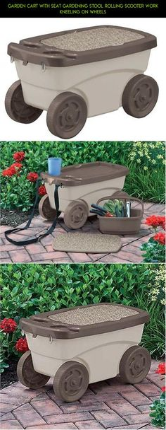 Garden Scooter Storage Seat Rolling Cart Portable Outdoor Gardening Tool  Yard | Outdoor Fun | Pinterest | Outdoor Fun