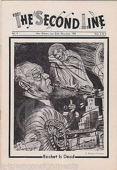 SIDNEY BECHET JAZZ MUSICIAN MEMORIAL VINTAGE THE SECOND LINE MUSIC MAGAZINE 1959