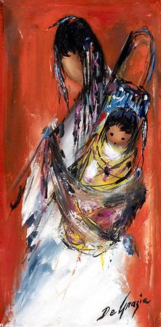 DeGrazia - mother and daughter
