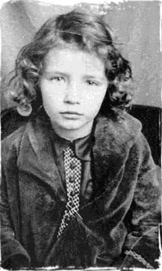 June Carter at 5 (born Valerie June Carter in Maces Spring, Virginia 1929)