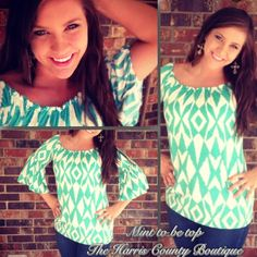 Mint to Be Top! $25.00 2 small 2 medium  2 large