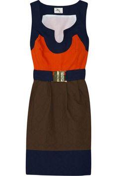 Block Textured Cotton Dress
