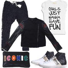 Pizzo e glitter  outfit donna Urban per party discoteca e serata casual ceaf89327e2