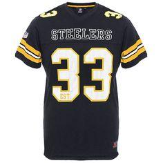 362276547 Pittsburgh Steelers Majestic NFL Mesh Jersey T-Shirt - Black