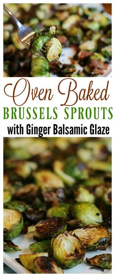 Not sure what to serve with tonight's dinner? Try our quick, easy and delicious Oven Roasted Brussels Sprouts with Ginger Balsamic Glaze recipe! via @jmanmillerbug