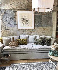 Canapé BOHEME sur mesure en lin lavé gris clair
