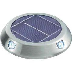 Napelemes LED-es dekorációs világítás, lapos forma, 2 db, max. 5 óra, rozsdamentes acél, SW-278D/2P