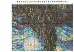 """Вышивалка: Скачать схему вышивки Riolis 1088 Ван Гог """"Звёздная ночь"""""""