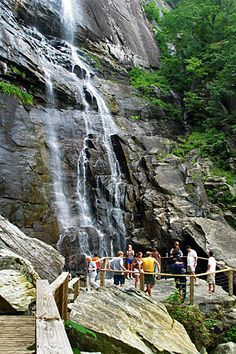 Nut Falls, Chimney Rock State Park, North Carolina Hickory Nut Falls, Chimney Rock State Park, North CarolinaCarolina Carolina may refer to: Nc Waterfalls, North Carolina Waterfalls, Beautiful Waterfalls, Asheville Waterfalls, Vacation Places, Vacation Spots, Places To Travel, Places To See, Vacations