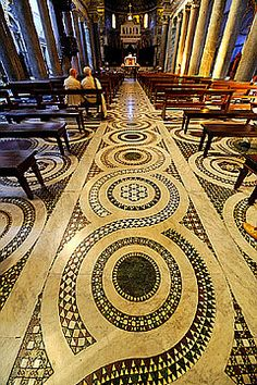 Rome: The magnificent medieval floor of Santa Marie in Trastevere