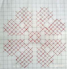 Fátima Moya Crochê: Gráfico margarida para passadeira
