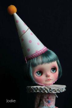Cute clown blythe doll