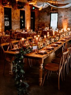 The cozy warmth of a farmhouse meets this industrial chic venue Red Wedding Decorations, Wedding Themes, Fall Wedding Table Decor, Wedding Ideas, Cabin Wedding, Rustic Wedding, Dream Wedding, Industrial Wedding Decor, Industrial Chic