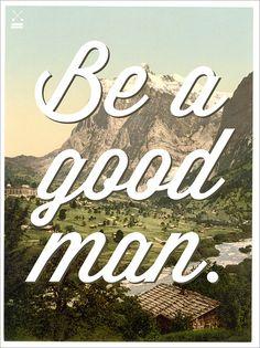 Be a Good Man. » Man Made DIY   Crafts for Men « Keywords: typography, gender, man, design