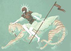 Kali Ciesemier - Warrior Queen on her Catbeast