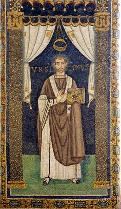 Basilica di Sant'Apollinare in Classe.  I mosaici del periodo giustinianeo. Il vescovo Ursicino. 535-538