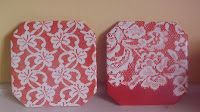 Homemade Mamas: Lacy Tile Trivets Better tutorial