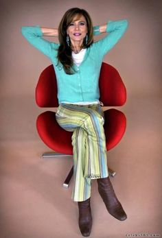 Lena Olin - love her outfit.