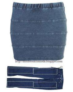 sukně ze starých džínů