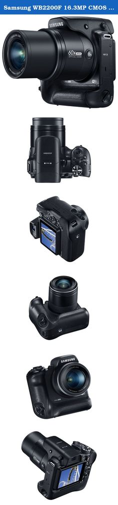 """Samsung WB2200F 16.3MP CMOS Smart WiFi & NFC Digital Camera with 60x Optical Zoom, 3.0"""" LCD and 1080p HD Video (Black). With a dual-grip design and solid professional appearance, the WB2200F is comfortable and easy to hold. Its Electronic Viewfinder (EVF) makes photographers"""" jobs easier and more pleasurable, and the device""""s unique i-Function control offers advanced elements that facilitate full manual control at the touch of a button. Amateur and expert photographers alike can also…"""