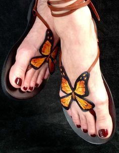 Hey, I found this really awesome Etsy listing at https://www.etsy.com/au/listing/245389987/hand-painted-butterfly-sandals