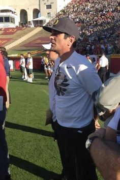 """Ty Burrell aka Phil Dunphy on """"Modern Family"""" was at the USC game cheering on his Ducks! Burrell is an Oregon native and attended the University for a bit before beginning his acting career.     Thanks to Molly Blue and The Oregonian for the picture!"""