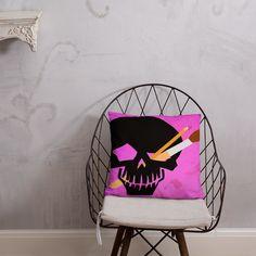 Skull Pallet Artist Logo Pillow Artist Logo, Afternoon Nap, Pillow Fight, Hanging Chair, Pallet, Skull, Joy, Shapes, Pillows
