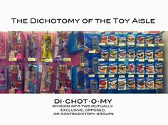 """The Dichotomy of the Toy Aisle. Supplement graphic re: """"What's Wrong with Cinderella"""" by Peggy Orenstein for the #NYT. http://www.nytimes.com/2006/12/24/magazine/24princess.t.html?pagewanted=all&_r=0"""