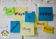 Useful tips on how to effectively use word walls in classroom instruction.