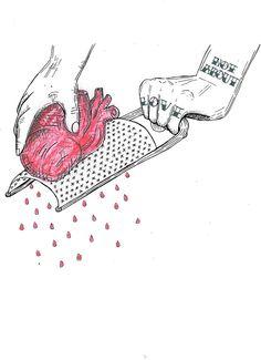 broken relationship with god illustration