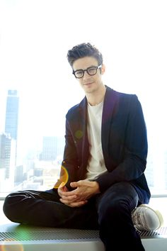 Grant Gustin poses for a portrait in New York.