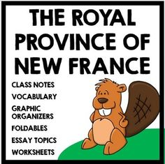 The Royal Province of New France and the start of the Fur Trade: Complete unit with informational text, foldables, and activities! Social Studies Classroom, Social Studies Resources, Teaching Social Studies, Teaching Resources, Beginning Of School, Middle School, Canadian History, American History, Ontario Curriculum
