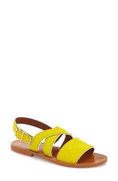 cdb560a92b0 Marni Three Strap Genuine Calf Hair Slingback Sandal (Women) Slingback  Sandal