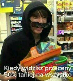 Przeceny!!! Asian Jokes, Asian Meme, K Meme, Bts Memes, Polish Memes, Funny Mems, Pop Singers, Reaction Pictures, Bts Boys