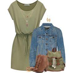 Casual Dress & Denim Jacket 3