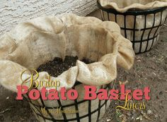 My 3 Monsters: Burlap Potato Basket Liners (instructions for making)