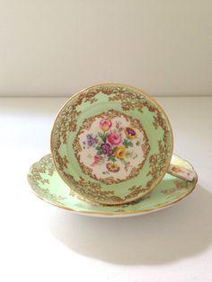 Vintage English Bone China Grosvenor Tea Cup by MariasFarmhouse, $110.00