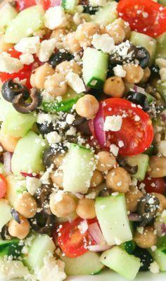 Greek Garbanzo Bean Salad