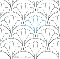 Digitized Longarm Quilting Design Clamshell Duchess was designed by Karlee Porter.