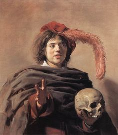 """Young Man Holding A Skull"" -- 1626-28 -- Frans Hals -- Dutch -- Oil on canvas -- The National Gallery, London"