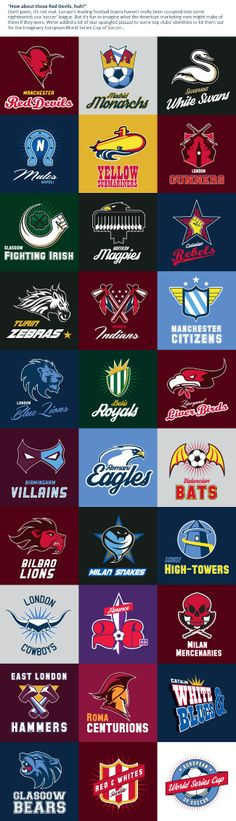 What If Europe's Top Football Clubs Got The American Sports Logo Treatment?