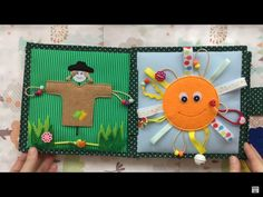 """Quiet Book """"Scarecrow"""" and """"Funny sun"""" pages"""